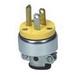 Cooper Wiring 2867-BOX Specification Grade Polarized Grounding Heavy-Duty Straight Blade Plug; 15 Amp, 125 Volt AC, 4-Wire, NEMA 5-15P, Yellow