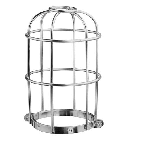 McGill 14356 Heavy Duty Closed Bottom Utility Light Wire Lamp Guard 100 Watt  Steel  Zinc-Plated With Chromate