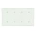 Leviton 86057 Blank Wallplate; Strap Mount, Thermoset, Ivory