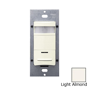 Leviton ODS15-IDT Decora® Passive Infrared Occupancy Sensor; 120/277 Volt AC, 2100 Sq ft, Automatic Off, Manual On, Light Almond