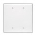 Leviton 80525-W Blank Wallplate; Box Mount, Thermoset, White