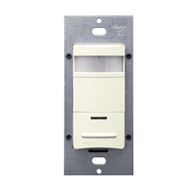 Leviton ODS10-IDT Decora® Passive Infrared Occupancy Sensor; 120/277 Volt AC, 2100 Sq ft, Automatic Off, Manual On, Light Almond