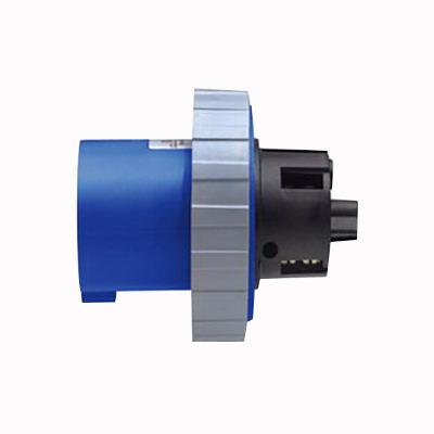 Leviton 560B9W Inlet; 60 Amp, 120/208 Volt, 4-Pole, 5-Wire, Blue
