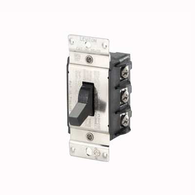 Leviton MS403-DS Industrial AC Motor Starting Switch; 3-Pole, Manual Toggle Operator, 600 Volt, 40 Amp, Black