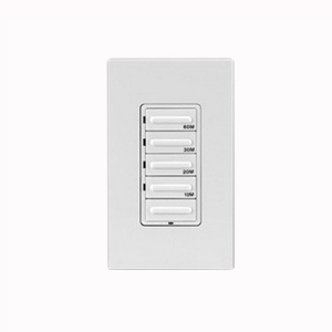 Leviton LTB60-1LZ Decora® Preset Countdown Timer Switch; 60 min, White/Ivory/Light Almond