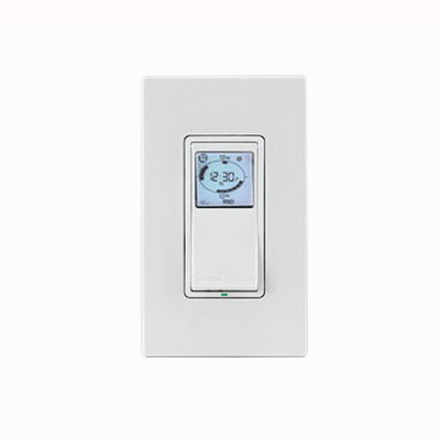 Leviton VPT24-1PZ Vizia RF +® Decora® Indoor Timer Switch With Astronomical Clock ; 24 Hour, White/Ivory/Light Almond