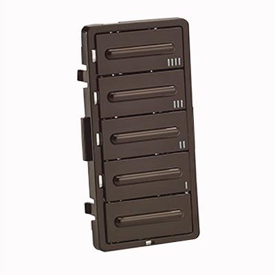 Leviton LTBKT-B Decora® Button Timer Color Change Kit; Brown
