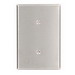 Leviton 84119-40 Blank Wallplate; Strap Mount, 302 Stainless Steel, Silver