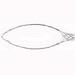 Leviton L9503 Single U Eye Closed Wire Mesh Safety Grip; 0.750 - 0.990 Inch Dia, 8 Inch Bale Length, 12 Inch Mesh Length