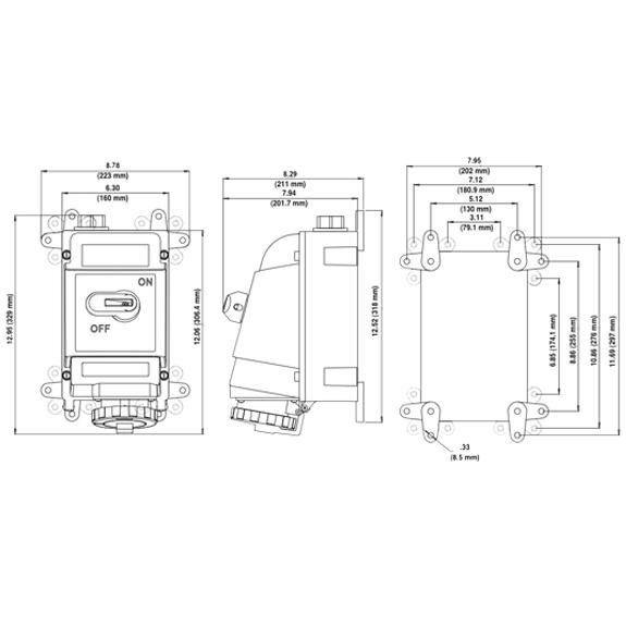 leviton 460mi7w receptacles