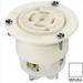 Leviton 2816 V-0-MAX® Grounding Locking Outlet; 30 Amp, 120/208 Volt, 5-Wire, NEMA L21-30R, White