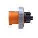 Leviton 460B12W Inlet; 60 Amp, 125/250 Volt, 3-Pole, 4-Wire, Orange