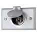 Leviton 4937 Weatherproof Grounding Straight Blade Inlet; 15 Amp, 125 Volt, 3-Wire, NEMA 5-15P, Aluminum