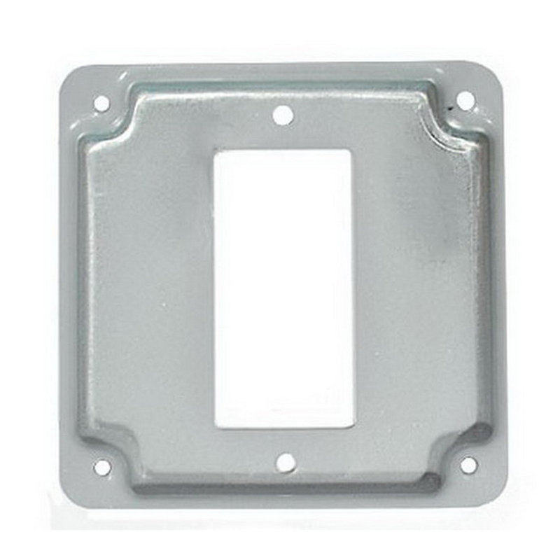 Mulberry 11432 1 GFCI Receptacle Exposed Work Cover; 1/2 Inch Raised, Baked Cadilite Steel