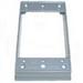 Mulberry 30229 1-Gang Weatherproof Box Extension; Gray, Die-Cast Aluminum