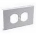 MonoSystems SMS3046-I SnapMark™ Cover Plate; Steel, Ivory