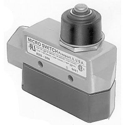 Selecta Switch BZE6-2RN Enclosed Switch; 1-Pole, SPDT, 1NO/1NC, 15 Amp at 480 Volt AC, 0.25 Amp At 250 Volt DC, Top Plunger