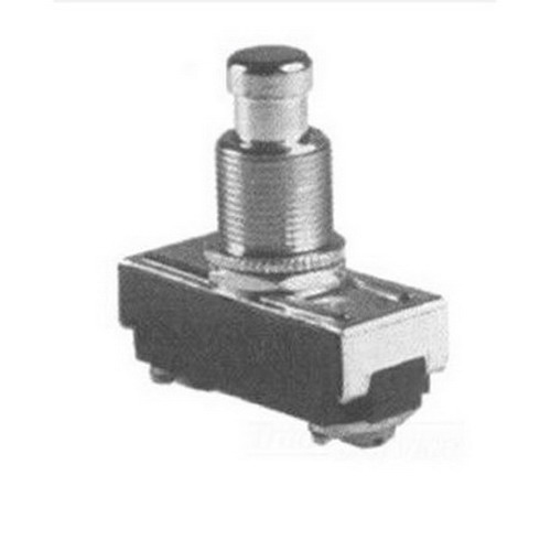 Selecta Switch SS229-BG Push Button Switch 125/250 Volt AC  15/10 Amp  On/Off Momentary  SPST NC  Brass/Nickel Cap Actuator