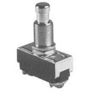 Selecta Switch SS228-BK Push Button Switch 125/250 Volt AC  15/10 Amp  On/Off Momentary  SPST NO  Brass/Nickel Cap Actuator