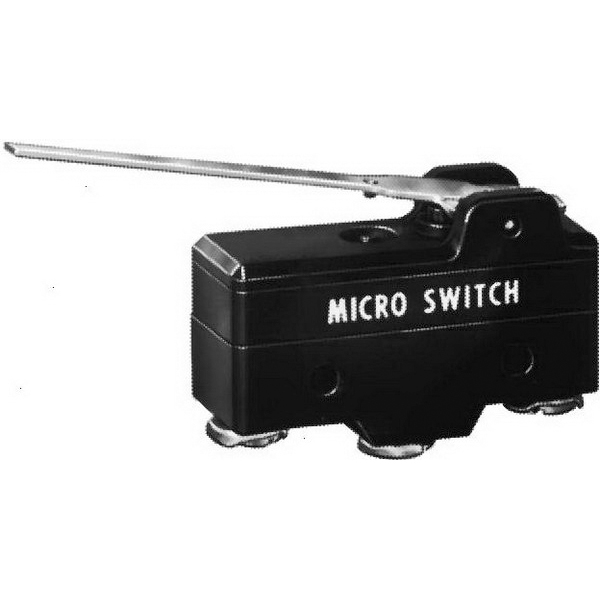 Selecta Switch BZ-2RW80147-P4 Standard Basic Switch; 1-Pole, SPST, 250 Volt AC, 15 Amp, Simulated Roller Lever