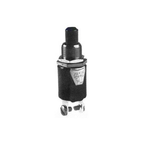 Selecta Switch SS213-13-BG Push Button Switch 125/250 Volt AC  3/4 - 1/4 Amp  On/Off Momentary  SPST NO  Nylon Straight Actuator