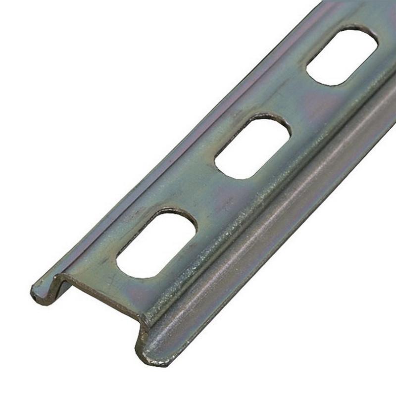 ABB 017322005 Din Rail; Zinc Bichromate Steel, 35 mm