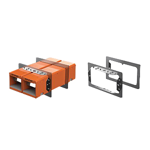 Specified Technologies EZDP233GK EZ-PATH® 33 Series Fire Stop Fire Rated 2-Gang Pathway Device Full Kit; Steel, Orange