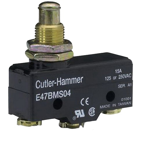 Eaton / Cutler Hammer E47CMS04 Limit Switch; 1-Pole, 1NO/1NC, 600 Volt, 20 Amp