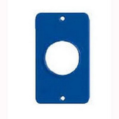 Ericson 6034 Blank Coverplate; Nylon, Blue