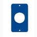 Ericson 6034 Blank Coverplate; Nylon, Blue