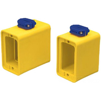 Ericson 6030 Standard Depth 1-Gang Portable Power Outlet Box; 3.187 Inch Deep, Thermoplastic Elastomer