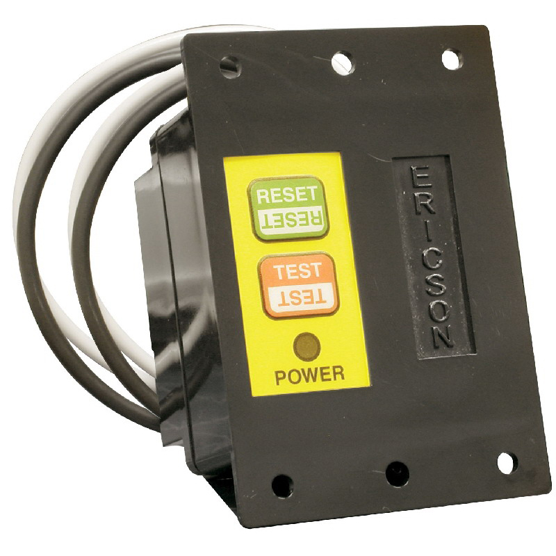 Ericson 1075-AR Auto Power Up GFCI Module; 2400 Watt, 20 Amp, Lighted NEON, Panel Mount