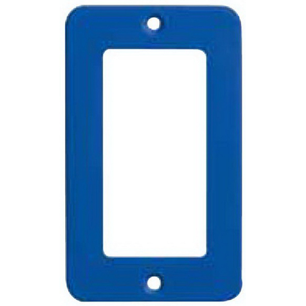 Ericson 6035 Open Face Weather Resistant Duplex GFCI Receptacle Coverplate; High Impact Nylon, Blue