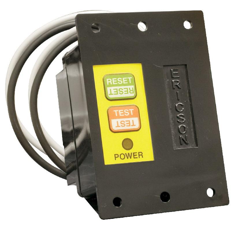 Ericson 1075-MR Manual Power Up GFCI Module; 2400 Watt, 20 Amp, Lighted NEON, Panel Mount
