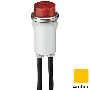 Ideal 776311 Raised Indicator Light; 28 Volt AC, 0.04 Amp, Incandescent, Amber, Transparent