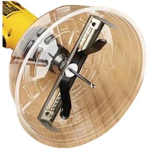 Ideal 35-599 Adjustable Can Light Hole Saw; 6-1/4 - 10-3/8 Inch, Stainless Steel