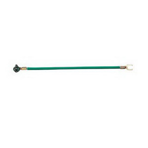 Ideal 30-3385 Stranded Wire Grounding Tail; Brass Terminal, Stranded 12 AWG, 50/Plastic Box