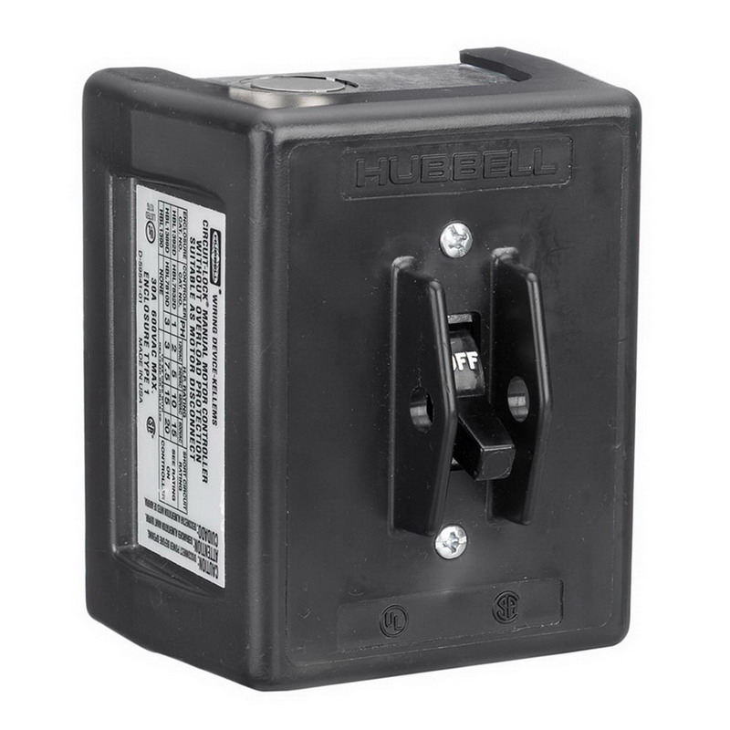 Hubbell Wiring HBL1389D Circuit-Lock® Manual Disconnect Switch; 600 Volt AC, 30 Amp, 3 Pole