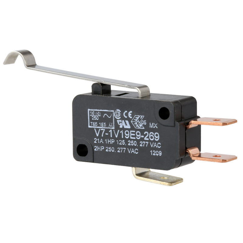 """""Honeywell V7-1V19E9-269 Micro Switch Miniature Basic Switch 1-Pole, SPDT, 277 Volt AC, 21 Amp,"""""" 310427"