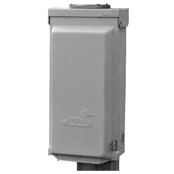 Midwest U010F Unmetered Power Outlet; 20 Amp, 120 Volt, 1-Phase, NEMA 3R, NEMA 5-20R2, Surface Mount