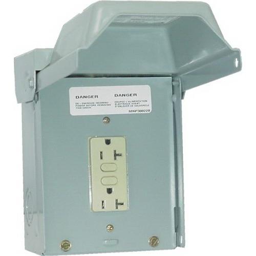 Midwest U010010 Unmetered Power Outlet; 20 Amp, 120 Volt, 1-Phase, NEMA 3R, NEMA 5-20R2GFCI, Surface Mount