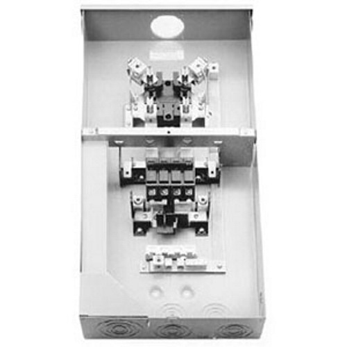 Midwest R281CB1 Metered Ringless Service Entrance Equipment; 200 Amp, 120/240 Volt, 1-Phase, NEMA 3R, Surface Mount