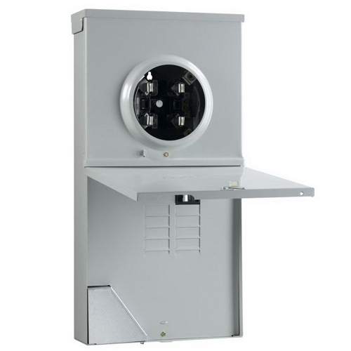 Midwest R281C1P6H Metered Ringless Service Entrance Equipment; 200 Amp, 120/240 Volt, 1-Phase, NEMA 3R, Post/Pedestal Mount