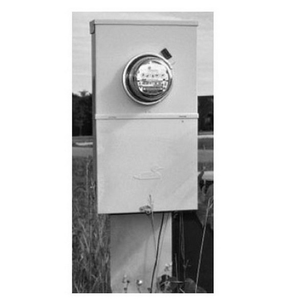 Midwest M282E1P6H Metered Ring-Type Service Entrance Equipment; 200 Amp, 120/240 Volt, 1-Phase, Post/Pedestal Mount