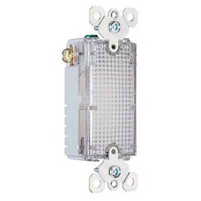 Pass & Seymour TMHWL-LOUVCC tradeMaster® Decorator Full Hallway Light; Clear, 2 LED Lamp