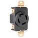Pass & Seymour 3430 Specification Grade Locking Single Receptacle; 120/208 Volt AC, 30 Amp, 3-Pole, 4-Wire, Black