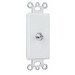 On-Q 26CATV-W Communication Device 1-Gang Wallplate; Wall Mount, Thermoplastic Face, Steel Strap, White