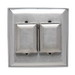 Pass & Seymour WP2 Dustproof 2-Gang Weatherproof Cover; Screw Mount, 302 Stainless Steel, Silver