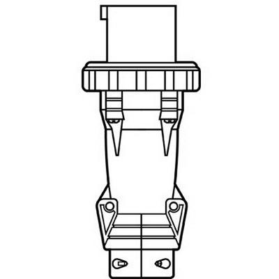 Pass & Seymour PS520P9-W Watertight Plug; 20 Amp, 120/208 Volt, 4-Pole, Black