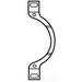 Pass & Seymour 340 Adjustment Yoke; Bright Zinc, For Strap Mounting Telephone and Blank Wallplate